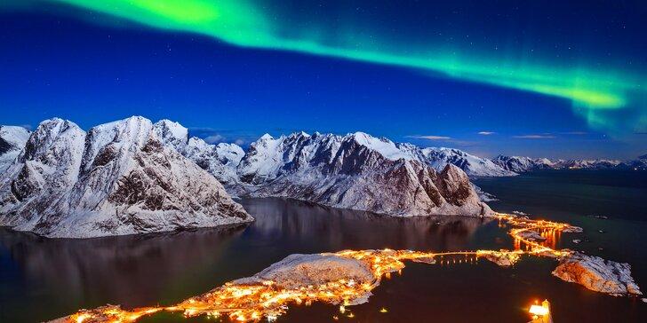 Severní Norsko a Lofoty: záloha na letecký zájezd za polární září a velrybami