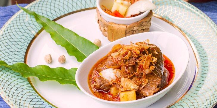Gastronomické putování Asií: thajské degustační menu v Café Buddha pro dva