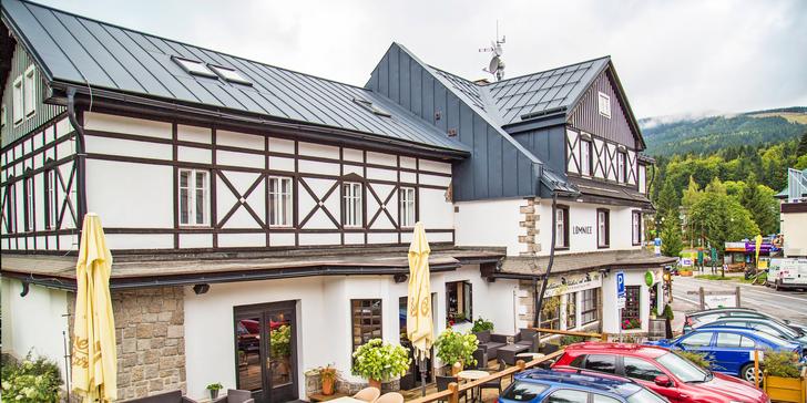 Dovolená na horách: hotel v centru Špindlu, polopenze, wellness a túry