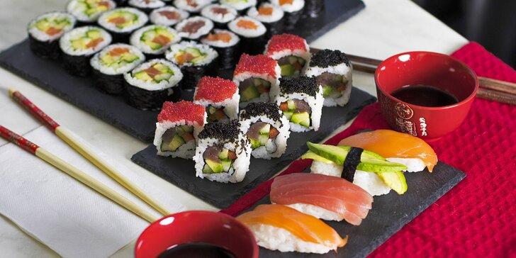 Asie do vašeho obýváku nebo kanceláře: rozvoz sushi setů s 18, 44 nebo 88 kusy