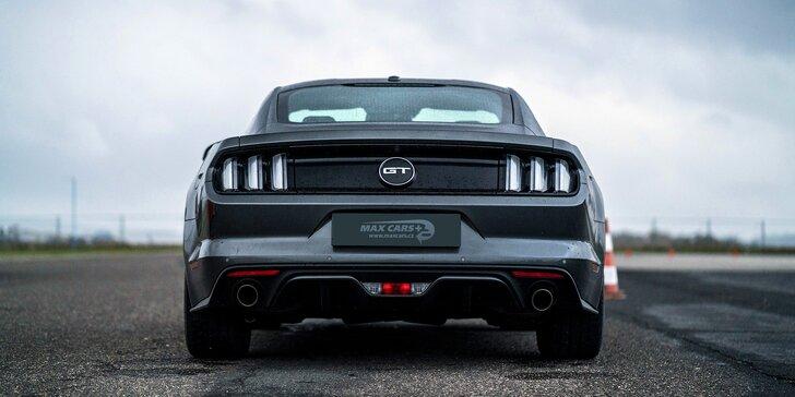 Exkluzivní škola smyku na polygonu s novým vozem Ford Mustang 5.0 GT