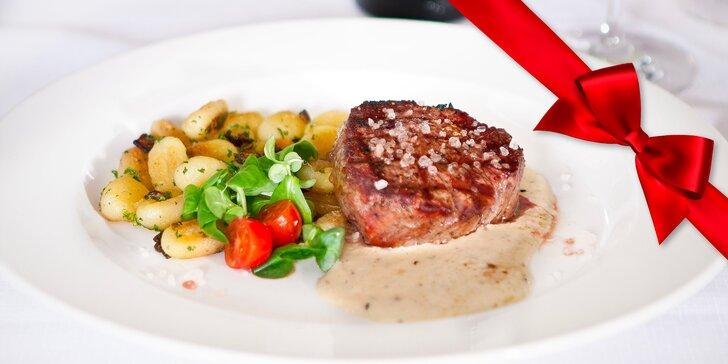 Dárkový poukaz do restaurace Pod Terasami: steaky, česká klasika i saláty