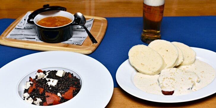 Botel Vodník zve na oběd: Novoroční 4chodové menu pro 2 na hladině Vltavy