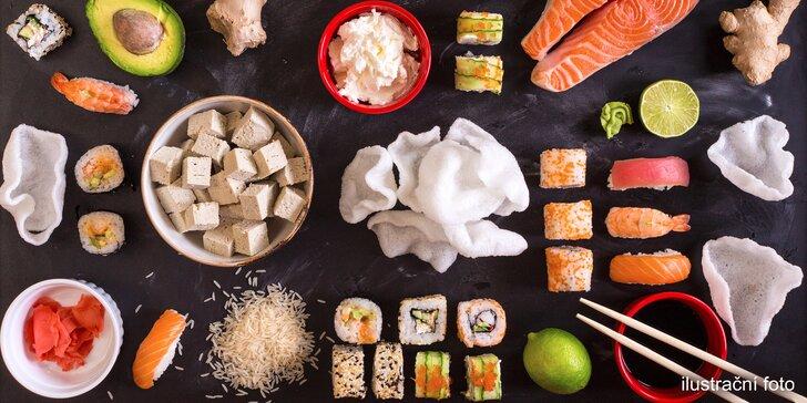 Nejrychlejší v Praze: nechte si dovézt čerstvé sushi do 30 min. v lokalitě rozvozu