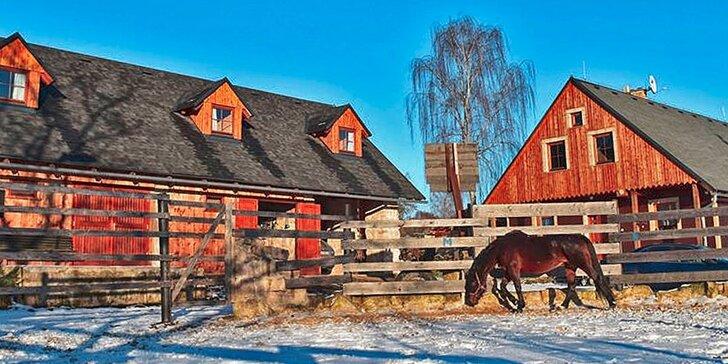 Až 4 dny pro 2 nebo 4 osoby: Romantický pobyt u koní v Českém ráji