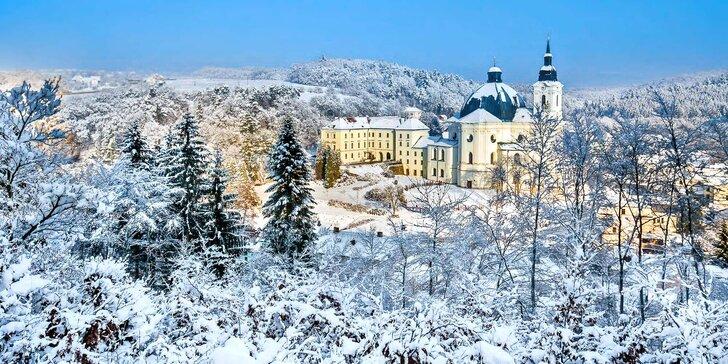 Pobyt na zámku v Moravském krasu s 3chodovými večeřemi vč. zvěřiny