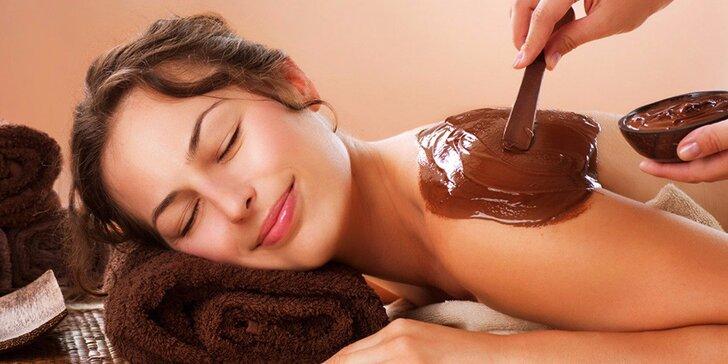 Čokoládové hýčkání: peeling, masáž a zábal v délce 60 minut