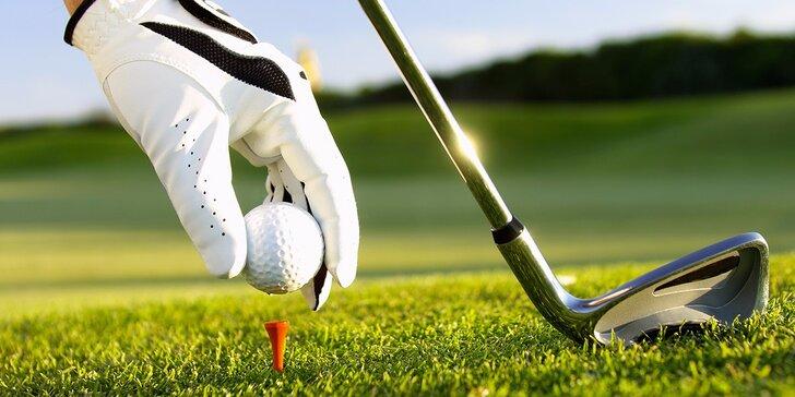 Poprvé na golfu: 2 hod. s trenérem a celodenní vstup do areálu v centru Brna