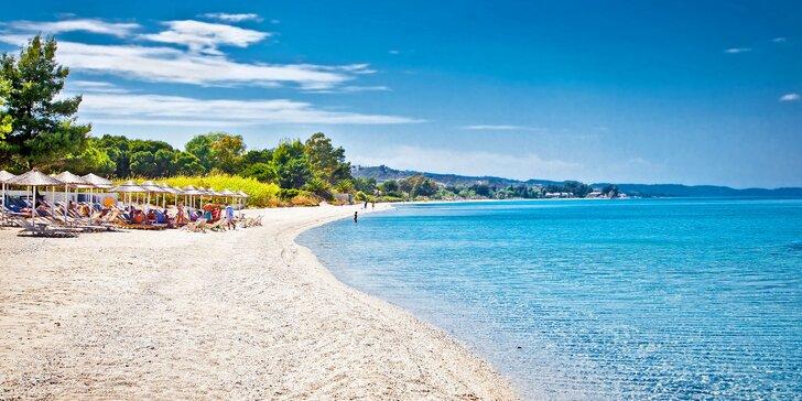 Odpočinek na pláži v Řecku na poloostrově Chalkidiki vč. snídaní a letecké dopravy