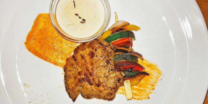 Steakové degustační menu: vyzrálé hovězí, šťavnaté telecí a libový flank steak