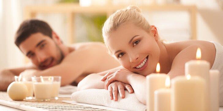 Láskyplný odpočinek pro dva: partnerská čokoládová masáž v délce 60 minut