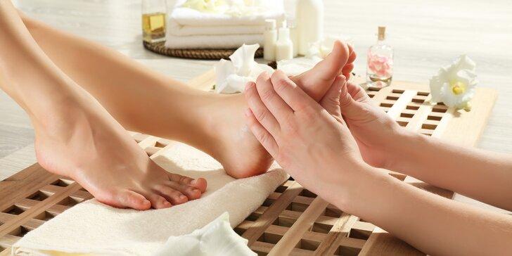 Antistresová reflexní masáž končetin vč. diagnostiky zdravotního stavu + zábal
