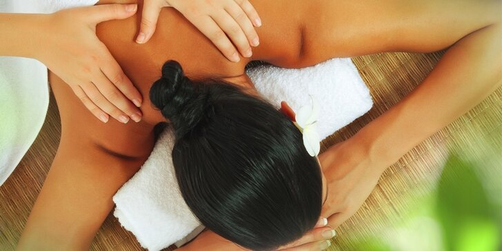 Klasická masáž zad a šíje nebo celotělová hodinová masáž