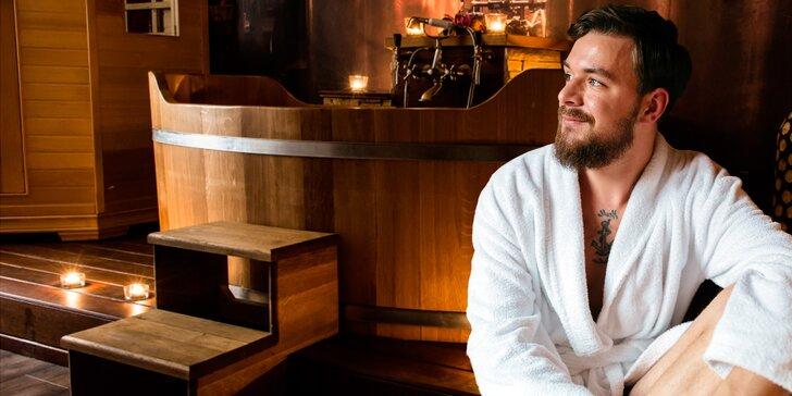 2 hodiny pouze pro muže: privátní sauna, dvojitá masáž a pivní lázeň