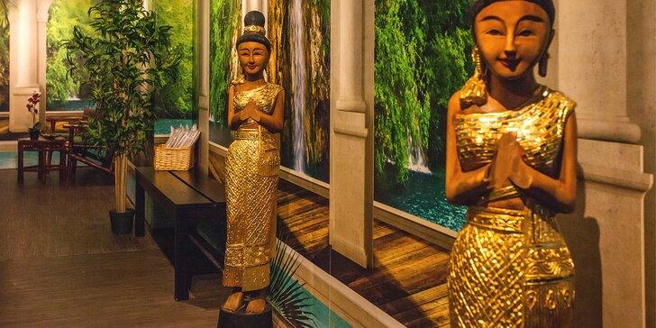 Thajská masáž v luxusních prostorech ve vyhlášeném salonu Thai Sun
