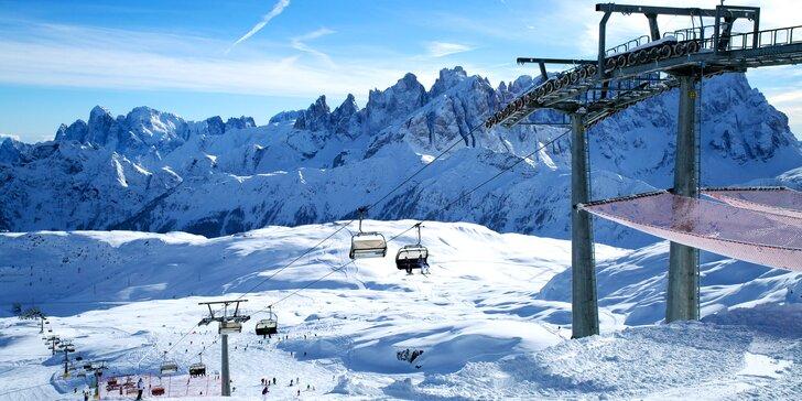 Lyžování v Dolomitech: hotel Orsa Maggiore, polopenze, 3denní skipas, doprava