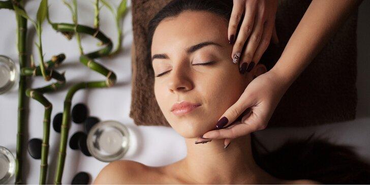 Hluboce relaxační a detoxikační ošetření obličeje a těla s použitím vonných esencí
