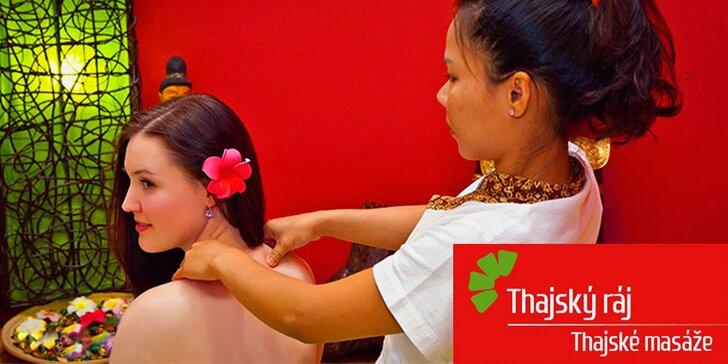 90 minut relaxu pro vaše zdraví: Thajská masáž zad, nohou a šíje vč. Garra Rufa