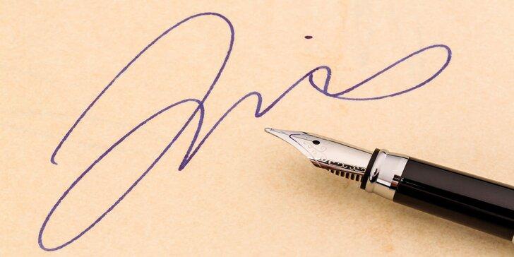 """Dovězte se více o vlastním rukopisu: Grafologický kurz """"Pravost podpisu a textu"""""""