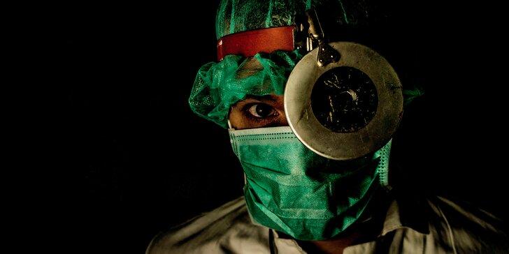 Úniková hra Dr. Anděl pro 2–5 hráčů: dostaňte se ze spárů šíleného doktora