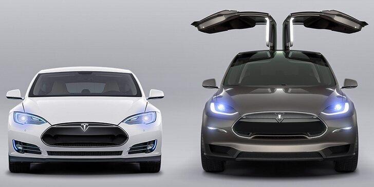 Splňte si řidičský sen: Jízda v elegantním automobilu Tesla X P90D či Tesla S P90D