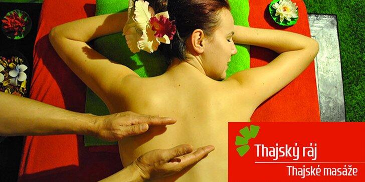 Nechte se hýčkat: Uvolňující masáž s thajským balmem v délce 45 nebo 60 minut