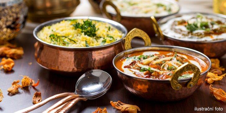 Pikantní a tajemná indická kuchyně: menu dle výběru pro 4 osoby