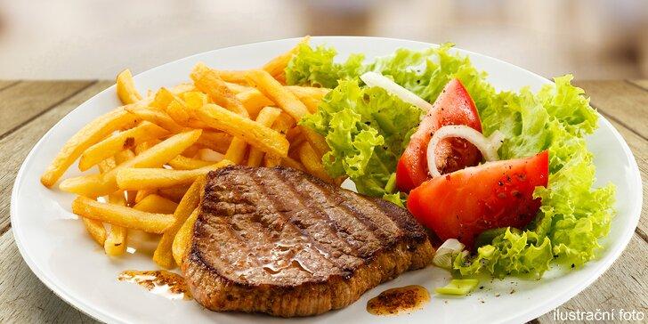 Porce plná možností: Steak, přílohy i omáčky dle vaší chuti pro 2 osoby
