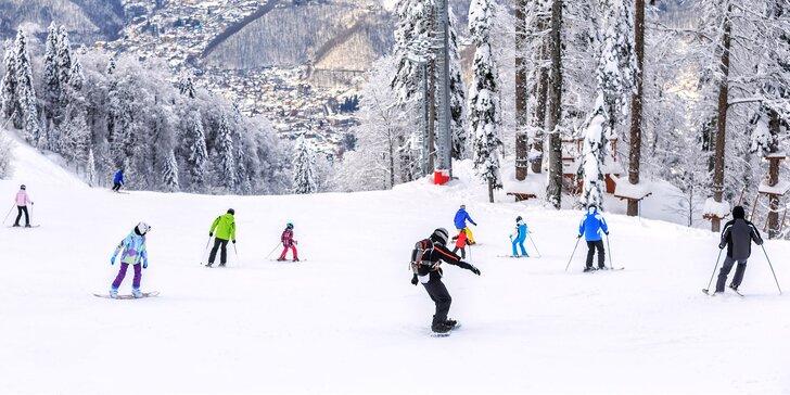 Krkonoše na lyžích: zimní pobyt s polopenzí pro 2 v lyžařském regionu