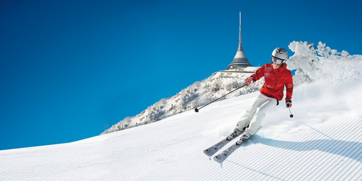 Jednodenní skipas na Ještěd: 9 km sjezdovek, pohodlné lanovky i super snowpark