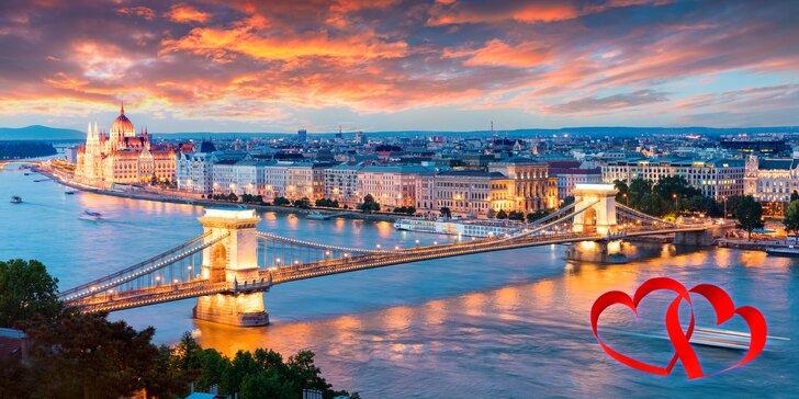 Valentýnská Budapešť: 4 dny se snídaní, prohlídkou města a relaxací v termálech