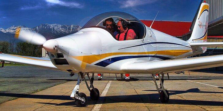 Pilotem na 20 až 60 minut: řízení sportovního letounu, odlety ze 7 míst v ČR