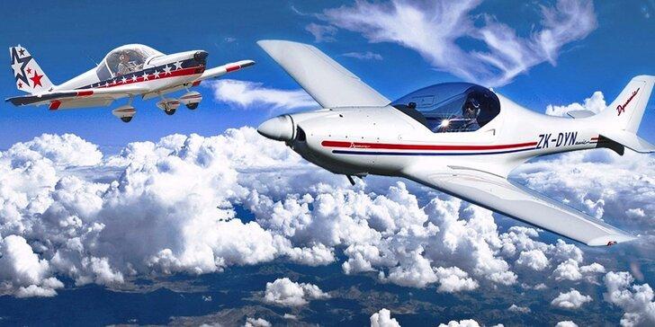 Staňte se na chvíli pilotem: řízení sportovního letounu, odlety ze 7 letišť v ČR