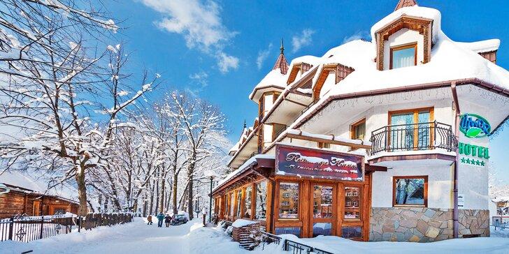 Luxusní pobyt v Zakopanem: neomezené wellness a túry po Vysokých Tatrách