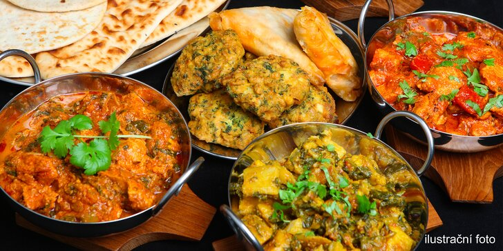 All you can eat: indické speciality s výkladem v restauraci Golden Nepal