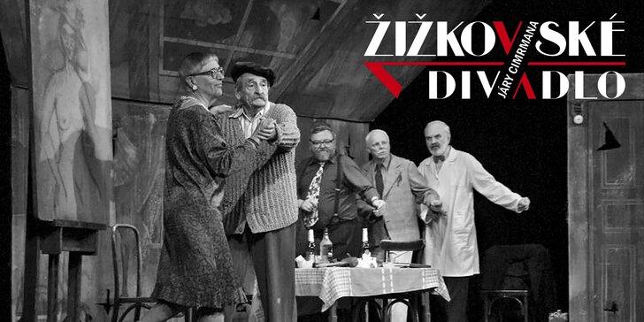 Vstupenky na 4 představení v Žižkovském divadle včetně Cimrmana
