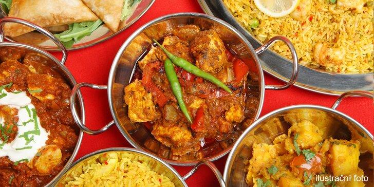 Autentické 3 chody od indických kuchařů pro 2 nebo 4 gurmány