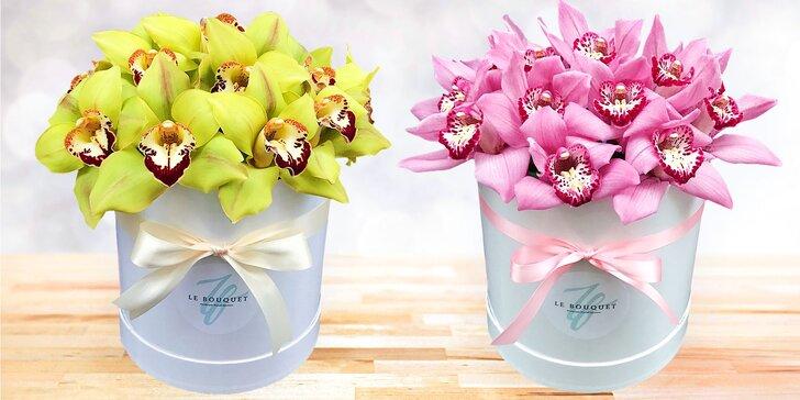 Udělejte radost květinou a darujte flower box s čerstvými květy orchidejí