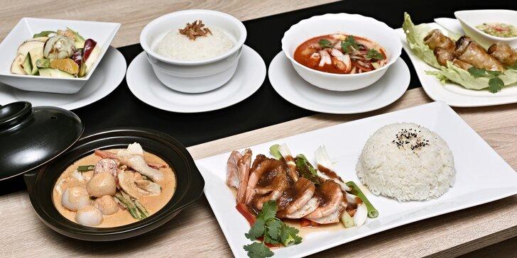 Cesta kolem talíře i světa: 4chodové degustační asijské menu dle výběru pro 2