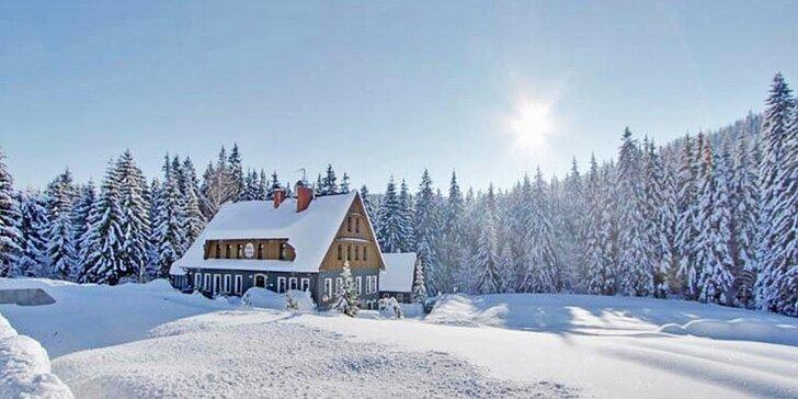 3-8denní relax v Jizerských horách: Bohatá plná penze, sauna i skipas