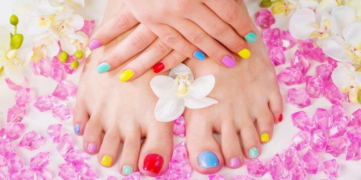 Kompletní balíček pro vaše nehty: Přístrojová manikúra vč. pedikúry a gel laku