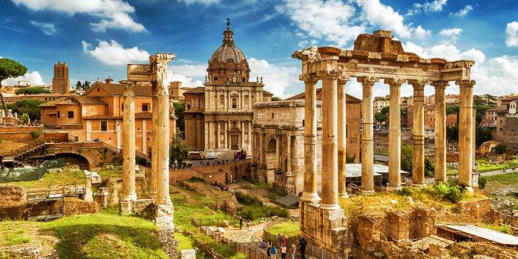 Za poznáním do Říma: letenka, hotel *** v centru města a služby průvodce