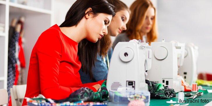 Kurzy šití v délce 4–5 hodin: základy střihu, ušití sukně i šití na stroji