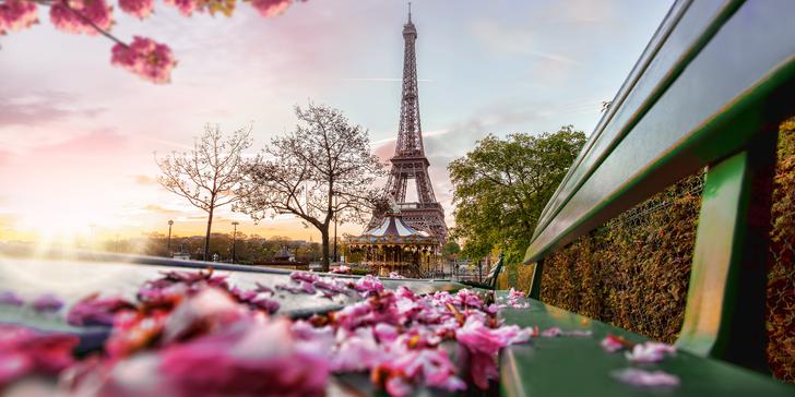 Jarní romantika: Letecký zájezd do Paříže včetně 3 nocí v hotelu a průvodce