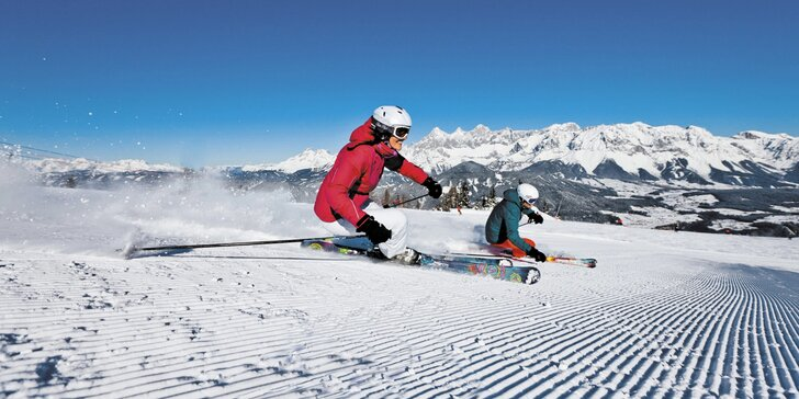 Lyžařská pohoda na Dachsteinu: pobyt se snídaní i volným vstupem do sauny