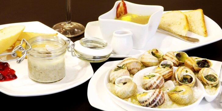 Delikatesa v moderním restaurantu: Šneci na ochutnávku i v pestrém menu s vínem
