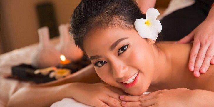 Výběr z 3 druhů luxusních thajských masáží ve vyhlášeném Thai Sunu