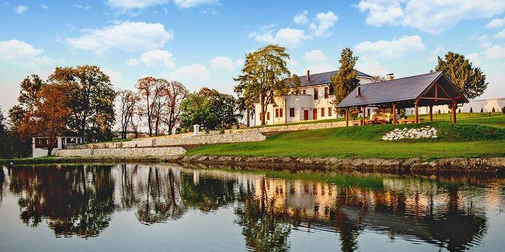 Romantický víkendový pobyt pro páry s degustací vína a možností rybolovu
