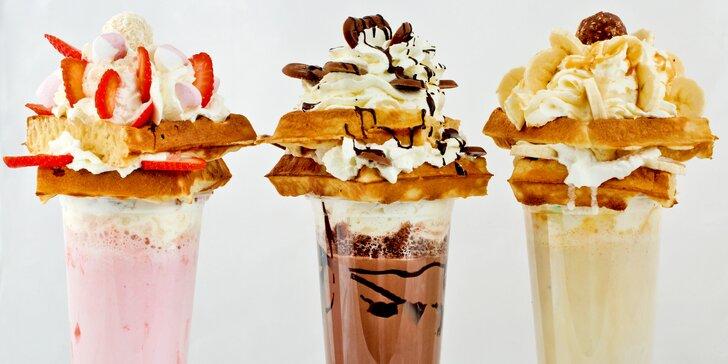 Snová divočina: tři druhy milkshaků s vaflemi ve Waf-Waf na Letné