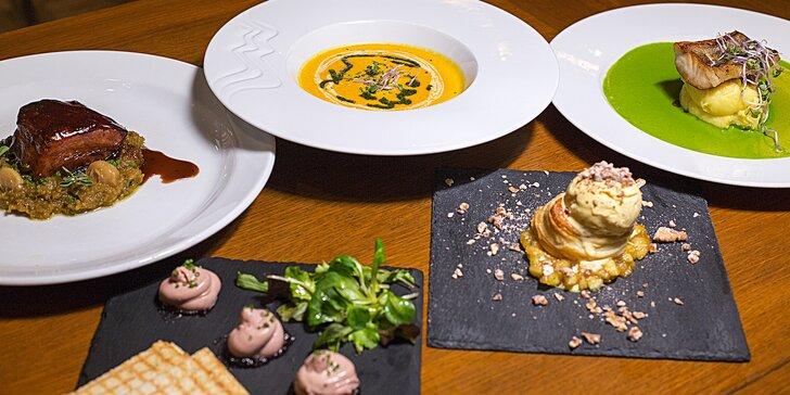 Degustační menu v restauraci Příčný řez: 5 lahodných chodů pro dva